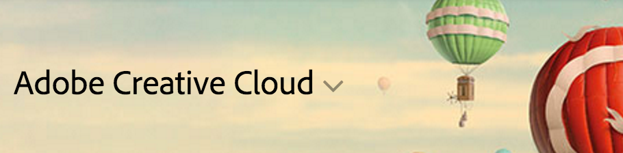 Sky with balloons, Adobe Creative Cloud