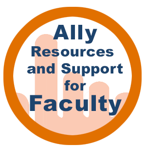 Link to ally resources for faculty
