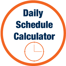 Daily Schedule Calculator tool