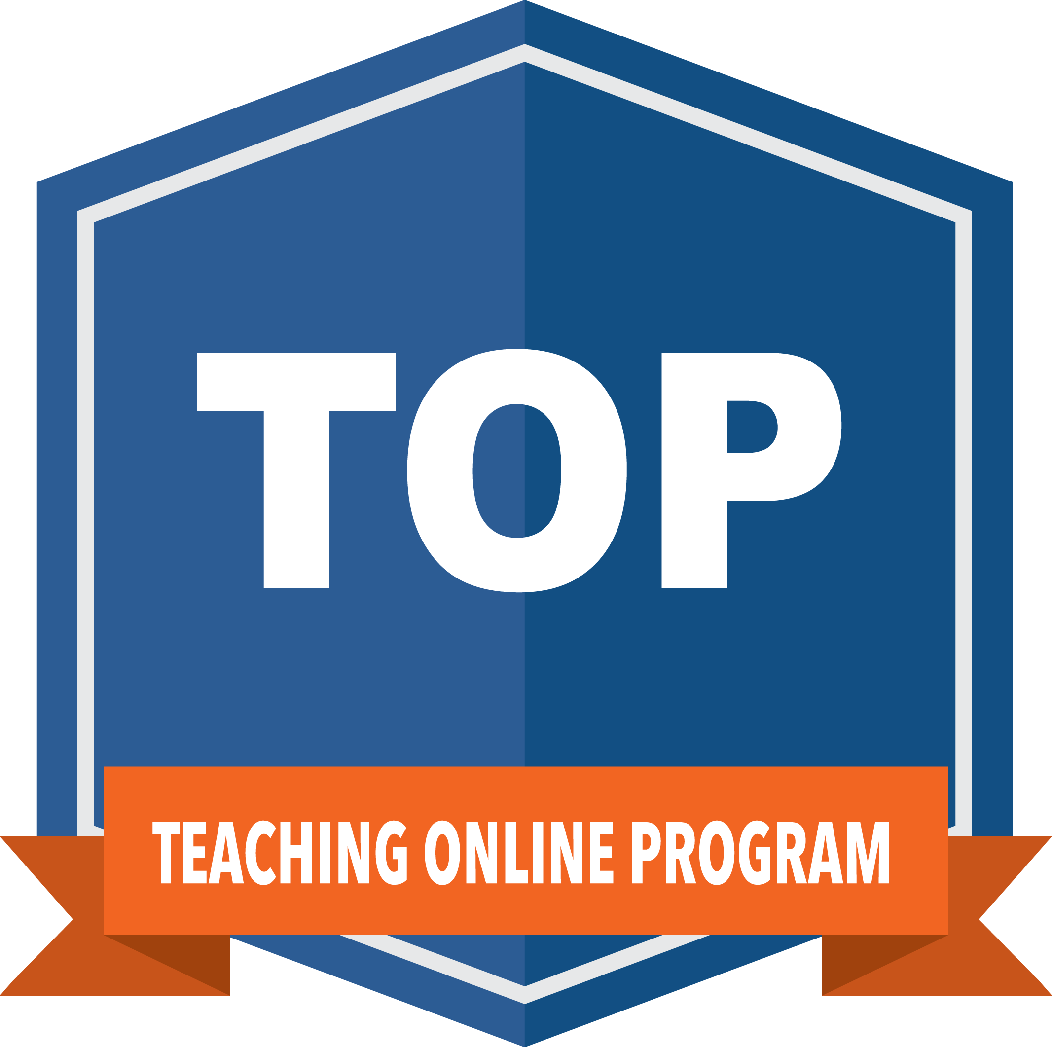 teaching online program badge